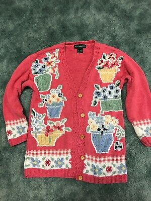 Floral Spring Theme Sweater Size Small Pink green Beautiful/Rare?ugly](Ugly Sweater Theme)