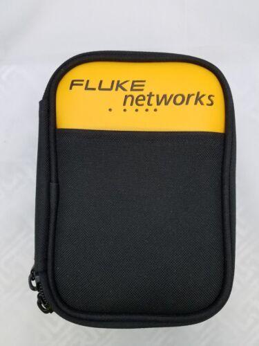"FLUKE NETWORKS CASE WITH BELT CLIP METAL 6.25""-4""-2"" DUAL ZIPPERS,POUCH INSIDE"
