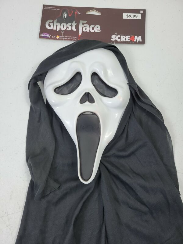 Fun World Tagged Scream 4 Ghost Face White Halloween Mask 2017 Adult NWD