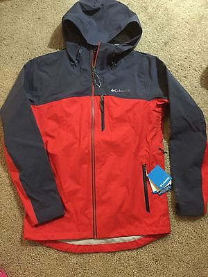 NWT Columbia Mens Mcgregor Peak Jacket  Hommes Size L Grey/red XO1223-691 $280