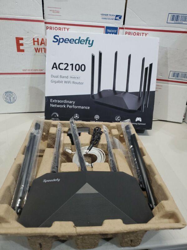 Speedefy AC2100 Smart WiFi Router K7 Dual Band Gigabit Wireless NEW OPEN BOX