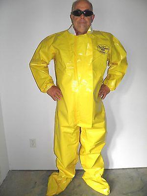 Lakeland Tychem Br 115 Dupont Hazmat Chemical Suit Yellow Cosplay Costume