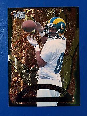 Rams Finger Football (1996 Fleer Metal Gold Fingers #1 Isaac Bruce St. Louis Rams Football)