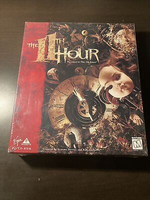The 11th Hour Trilobyte Big Box PC CD-ROM Game Puzzle Adventure Brand New Sealed