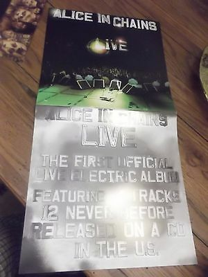 ALICE IN CHAINS  LIVE ORIGINAL PROMO POSTER 12x24 2-sided