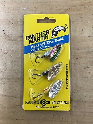 Panther Martin Spinners BEST OF THE BEST 3pk size 4 1/8oz for freshwater