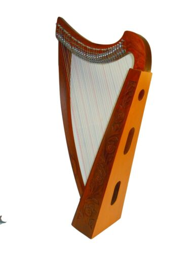 32 Strings Rosewood Lever Harp with free Strings, Tuning Key and Bag