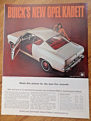 1966 Buick Opel Kadett Sports Coupe Ad for sale  Tomah
