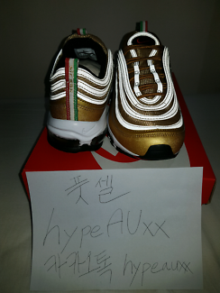 """SOLD) AIR MAX 97 GOLD OG """"ITALY FLAG """""""