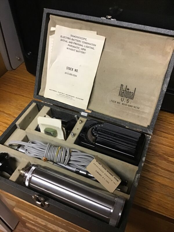 Vintage Doctor Ophthalmoscope Instrument National Sigmoidoscope