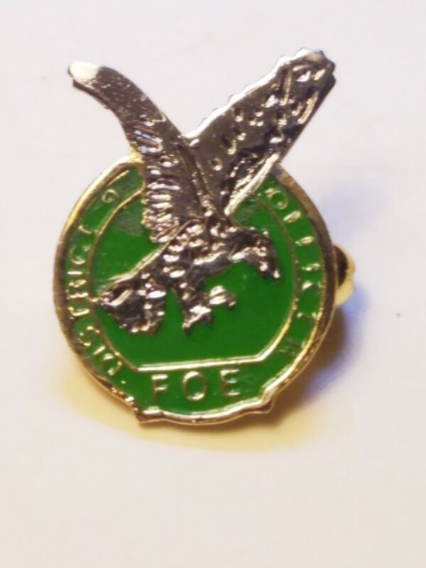 FOE Fraternal Order of Eagles Pin Brand New Old Stock Green Color Free Shipping