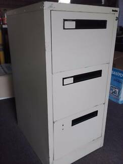 Large desk and filing cabinet