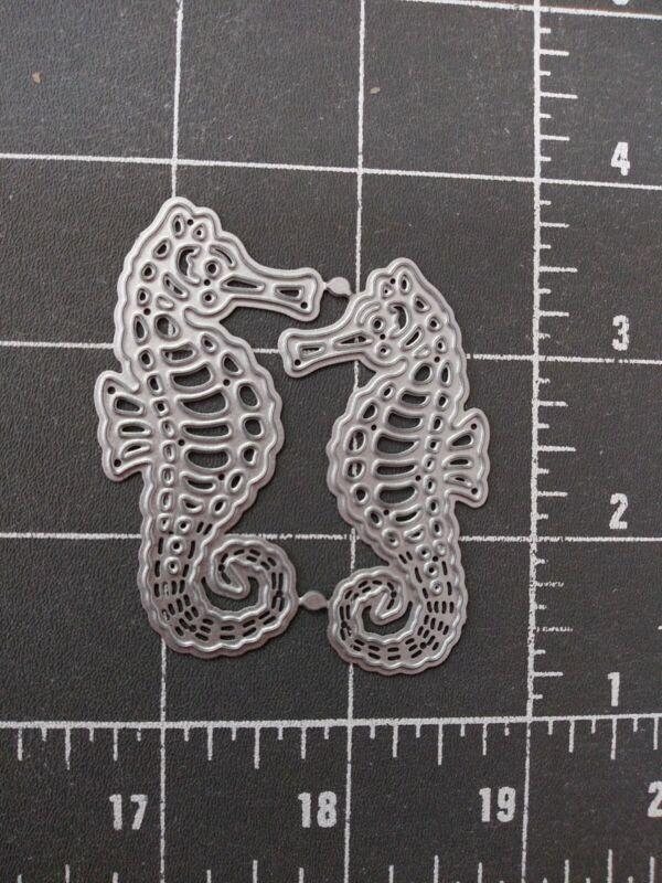 Universal Die Cut Tool Thin Metal Emboss Beach Ocean Seahorse Hippocampus sea