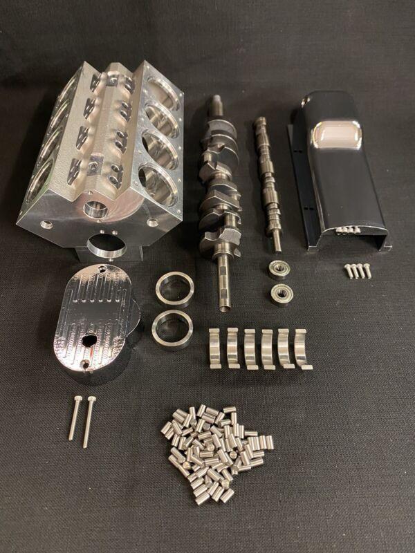 1/4 Scale V8 Engine Block, Crankshaft, Camshaft, Oil Pan & Timing cover Set !