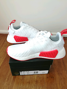 Adidas NMD R2 White & Core red US9 New Chadstone Monash Area Preview