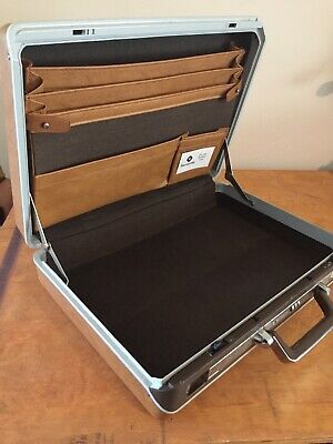 Vintage SAMSONITE Brown Briefcase Attache Hard Case Combination Lock NICE