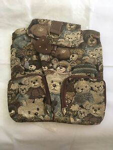 Brand New Teddy Bear Tapestry Backpack Rucksack Strathmore Moonee Valley Preview