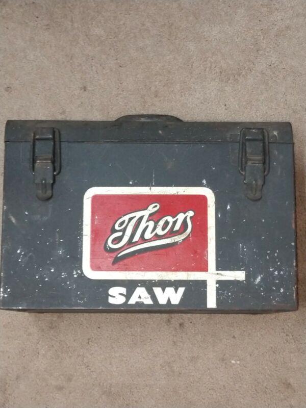 Vintage THOR Silver Line 1950's original  Metal Saw Box