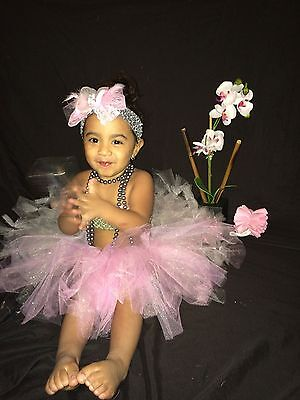Silver and Light pink tutu birthday size 0-5T baby girl tulle  - Silver Tutus