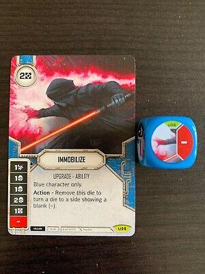 IMMOBILIZE Card + Die Star Wars Destiny Awakenings RARE m/nm V