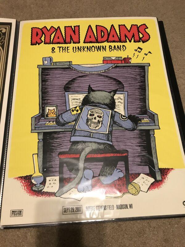 Ryan Adams 2017 Madison WI Poster