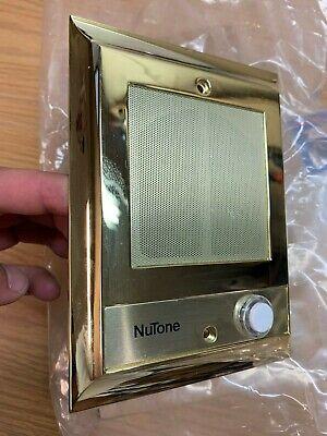 Nutone IS-69PB Intercom Door Speaker lighted pushbutton Polished Brass 4406 -