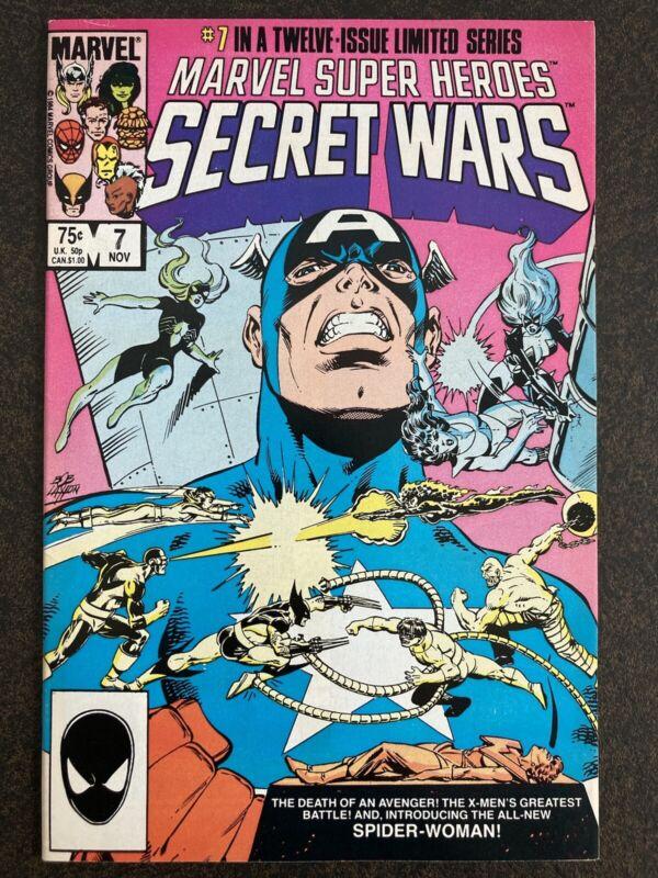 MARVEL SUPER HEROES SECRET WARS 7 1984 1ST SPIDER-WOMAN JULIA CARPENTER HI GRADE
