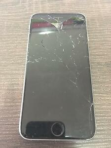 128GB Silver/Black iPhone 6, unlocked, cracked screen Fairlight Manly Area Preview