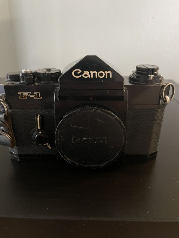 Canon F-1 35mm Film Camera,speed Finder, Teleconverter And Everything In Pics
