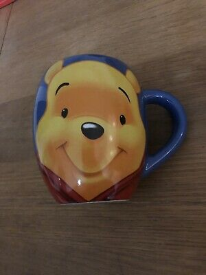 Blue Disney WINNIE THE POOH barrel MUG/ CUP - Churchill - excellent conditon  Blue Barrel Mug