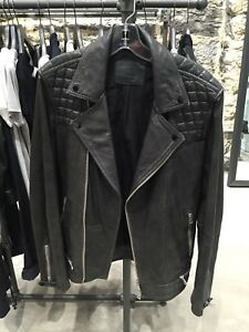 AllSaints Conroy Leather Jacket (size M)