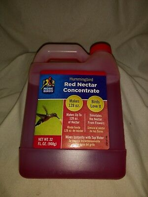 Hummingbird Red Nectar Concentrate - More Birds - 32 fl oz 32 Ounce Red Nectar