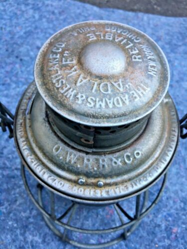 1900's O.W. R.R & Co OREGON WASHINGTON RAILROAD & CO. RAILROAD LANTERN
