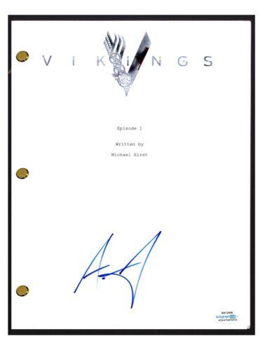 Alexander Ludwig Signed Autographed VIKINGS Pilot Script Screenplay ACOA COA