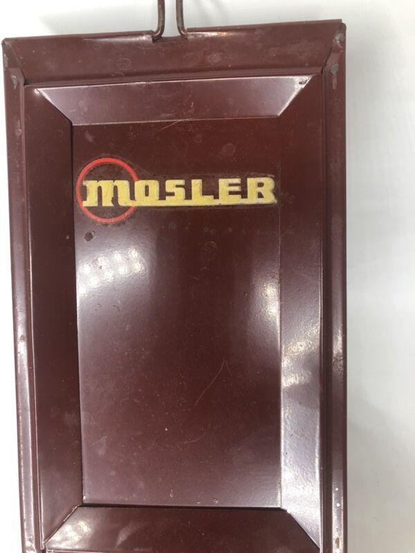 Vintage Mosler Steel Safety Deposit Box.  (d1)
