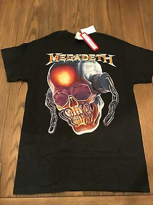 New Nwt Licensed Live Nation Megadeth Vic Rattlehead Skull Black T Shirt Tee