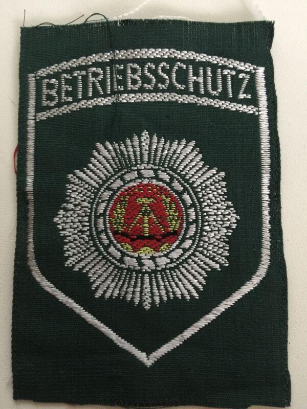 DDR East German Betriebsschutz Factory Police Patch - Original