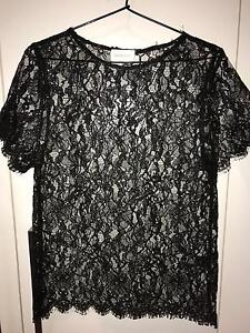ZIMMERMANN Black Lace Balance Top Size 0 / XS Pagewood Botany Bay Area Preview