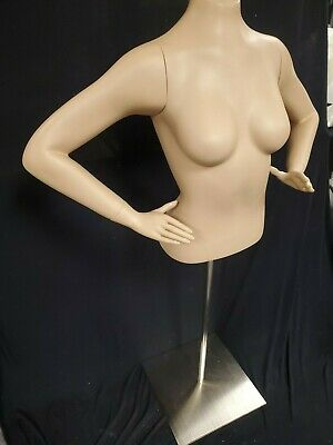 Female 12 Torso Mannequin With Stand New In Box With Arms Hands