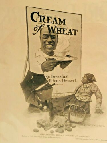1919 Cream of Wheat Black Americana Art Vintage Print Ad Advertisement