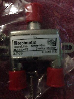 TECHNETIX 2 WAY HD DIGITAL HIGH PERFORMANCE COAX SPLITTER BASL-02 Digitale Coax-splitter