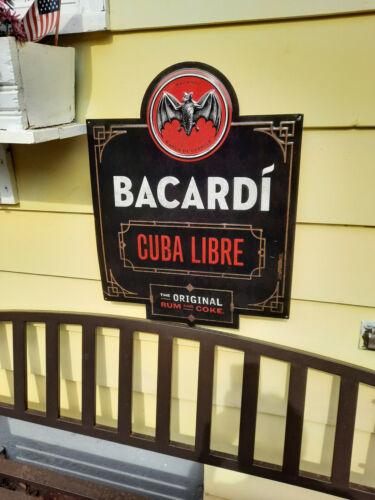 Cuba Libre BACARDI rum cocktail tin metal sign