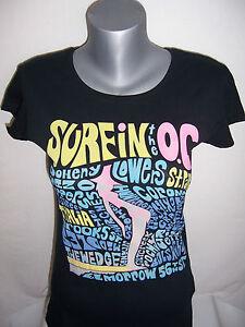 TEE-SHIRT-femme-ROXY-neuf-taille-M-ou-L-coloris-noir-imprime