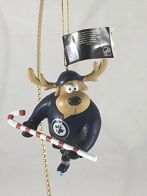 Winnipeg Jets Team Reindeer Hockey Candy Cane Ornament NHL Team Sports (Winnipeg Usa)