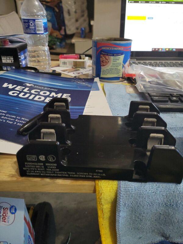 USO H60030 Fuse Holder 3-Pole 30Amp and 2 slot fuse holder 2 pcs 600Volt 00338