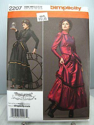 ARKIVESTRY Victorian Gothic Steampunk DRESS PATTERN Simplicity 2207 HH 6 8 10 12