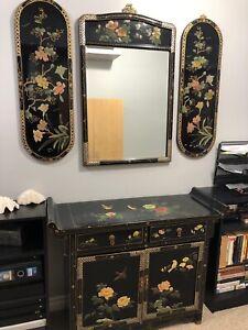 5 piece cabinet/mirrror/China/storage
