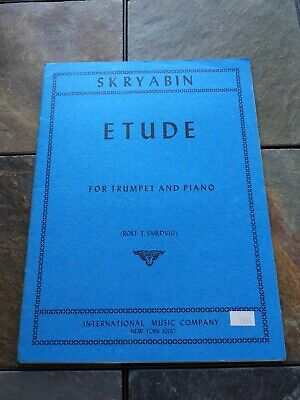 Etude for Trumpet and Piano by A. Skryabin (Skriabin) Sheet Music Trumpet Piano Music