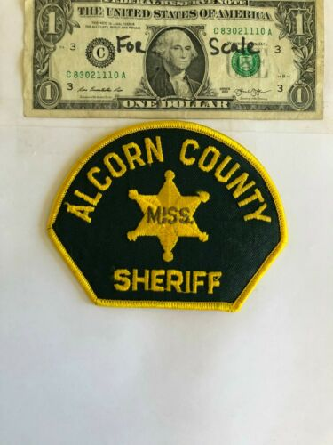 Rarer Alcorn County Mississippi Police Patch Un-sewn Great condition