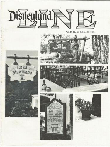 Vintage Disneyland Line Cast Exclusv Newsletter 1983 October13 CASA MEXICANA